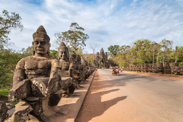 South gate of Angkor Thom , Siem Reap , Cambodia