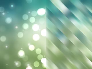 Bokeh light, shimmering blur spot lights on blue and green abstr