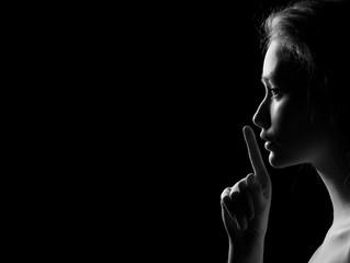 Woman Shows Silence