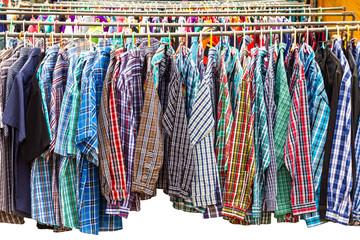 Many long-sleeved shirt.