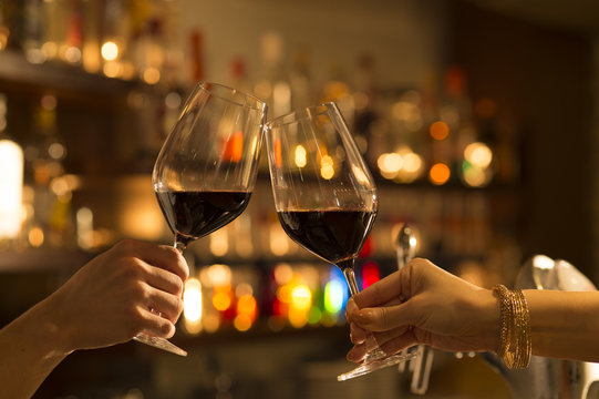 Men and women you are toast with red wine