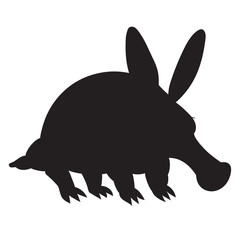 Anteater silhouette  illustration