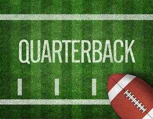 American Football with Yard Line on American Football Field