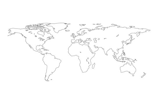 Outline of world map