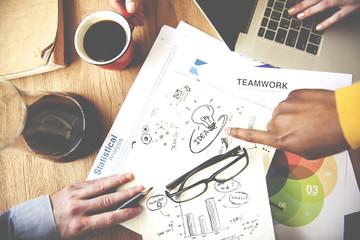 Teamwork Corporate Collaboration Ideas Creativity Concept