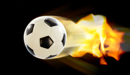 Football Ball on Fire