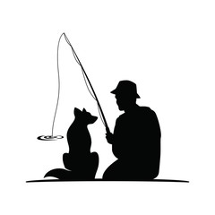 Fishing with my dog