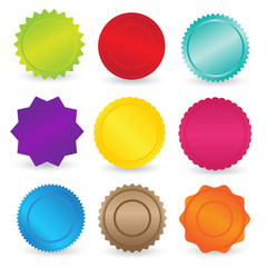 Colorful Stickers and Labels Element