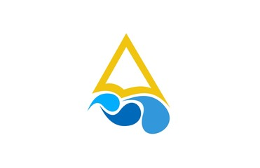 wave triangle logo