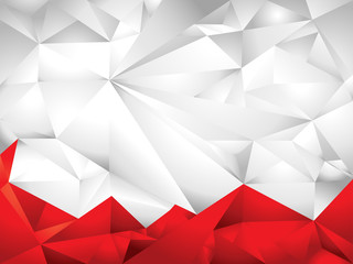 white & red polygon background