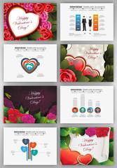Valentines day backgrounds set