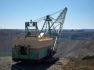 Dragline at quarry