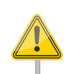 Hazard warning attention sign