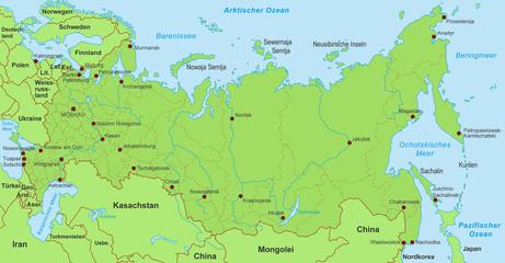 Karte von Russland (detailliert)