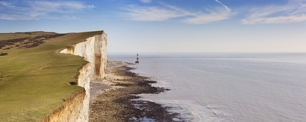 Aluminium Prints Sea Cliffs at Beachy Head on the south coast of England