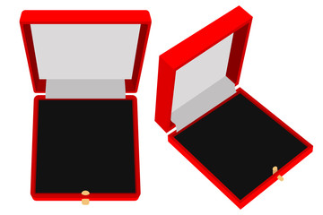 Jewelry Gift box. Red case.