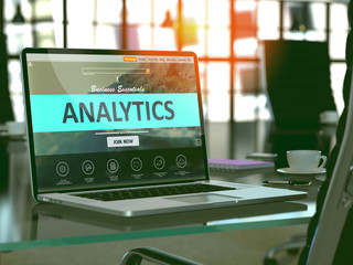 Analytics Concept on Laptop Screen.