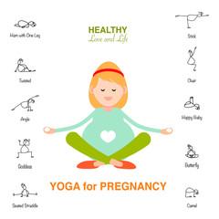 Pregnant woman, Happy mom concept, yoga for pregnancy