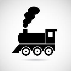 Locomotive, train vector icon.