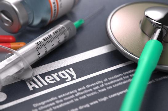 Diagnosis - Allergy. Medical Concept.