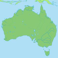 Australien in Grün - Vektor