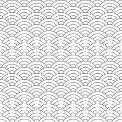 Wave Pattern. Japanese Texture. Wave Background in Vector