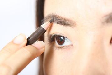 Asian women are Eyebrow.in studio