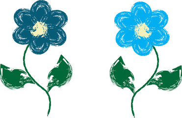 vector paint flower