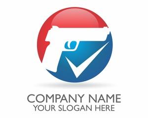 pistol gun checklist vector