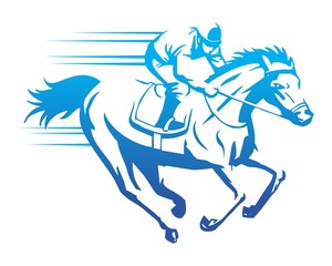 riding horse logo vector