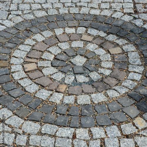 muster aus pflastersteinen kreisrund - Pflastersteine Muster Bilder