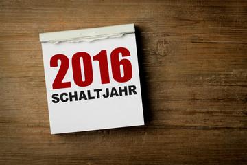 2016 Schaltjahr