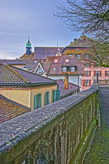 View to roofs in the Old City of Solothurn