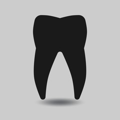 Vector tooth silhouette. Tooth dental, healthy tooth, icon tooth illustration