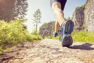 Healthy trail run
