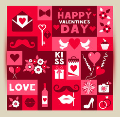 Vector card of Valentine Day.