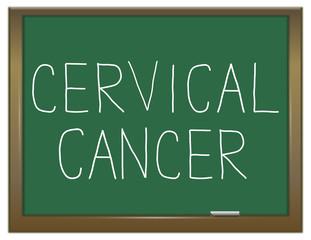 Cervical cancer concept.