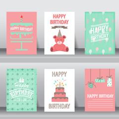 happy birthday greeting card, vector