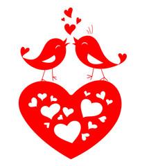 Love birds shape for Valentine's day