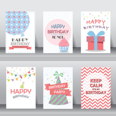 happy birthday celebration card template