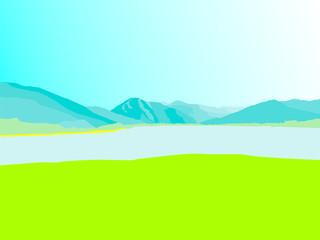 Tegernsee Flat Design