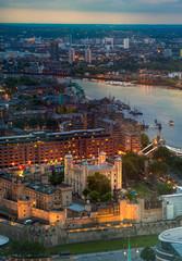 LONDON, UK - MAY 22, 2015:  Tower of London at night