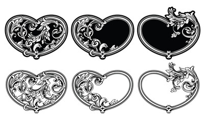 Floral_frame_heart_collection