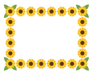 Horizontal frame with flowers.Vector illustration.