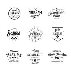 Vector vintage labels. Templates Set for banner, insignias, business brand design.