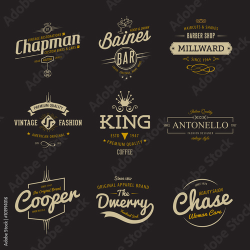 Vector vintage labels templates set for banner insignias business vector vintage labels templates set for banner insignias business brand logo design accmission Image collections