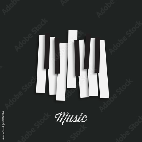 Jazz Music Festival Poster Background Template Piano Keyboard Can Be Used As