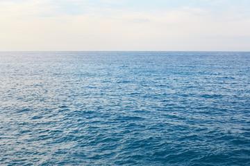Poster Mer / Ocean Mediterranean blue, calm sea with horizon in the morning