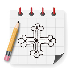 royal cross doodle