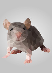 Grey mouse standing and looking vector